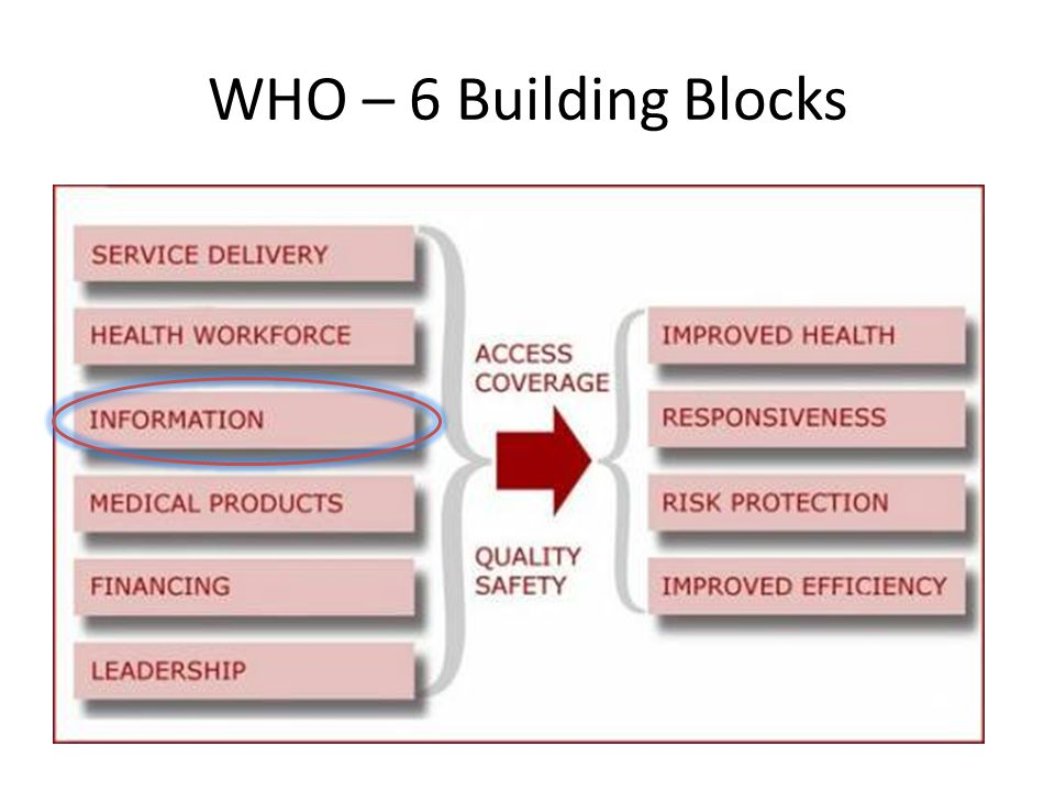 WHO – 6 Building Blocks