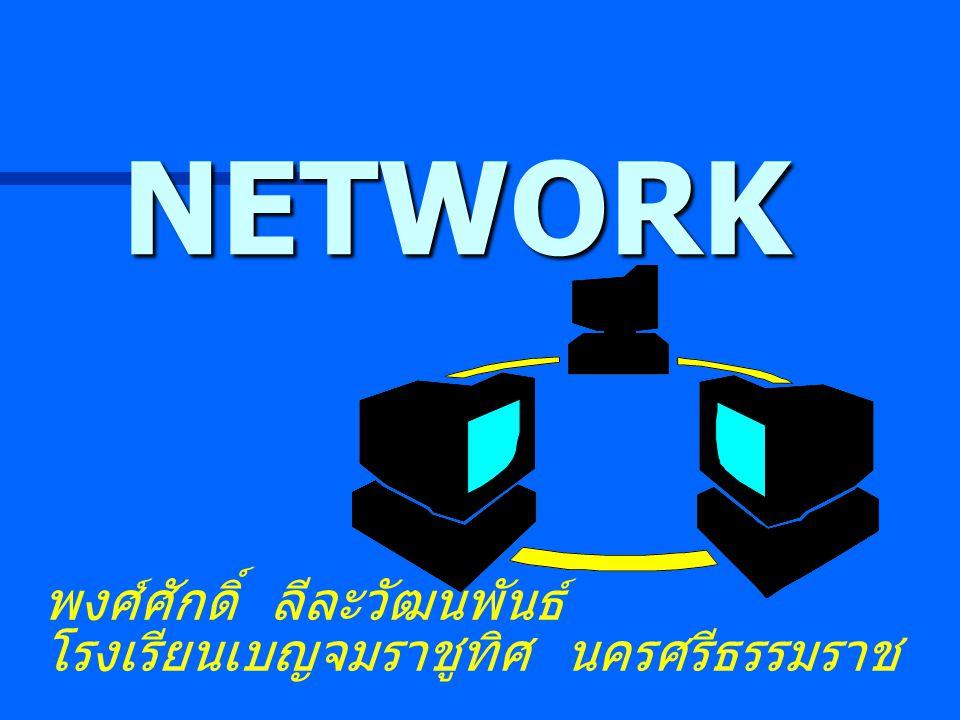 NETWORK พงศ์ศักดิ์ ลีละวัฒนพันธ์ โรงเรียนเบญจมราชูทิศ นครศรีธรรมราช
