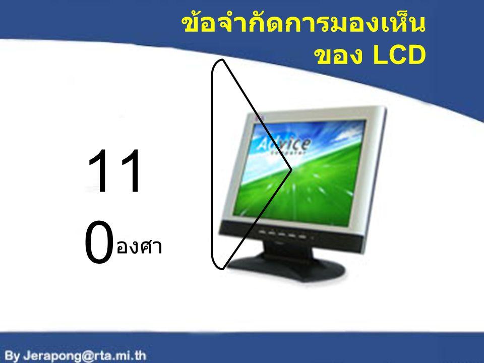 ข้อจำกัดการมองเห็น ของ LCD 11 0 องศา