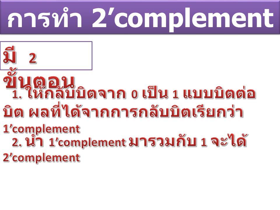 การทำ 2'complement