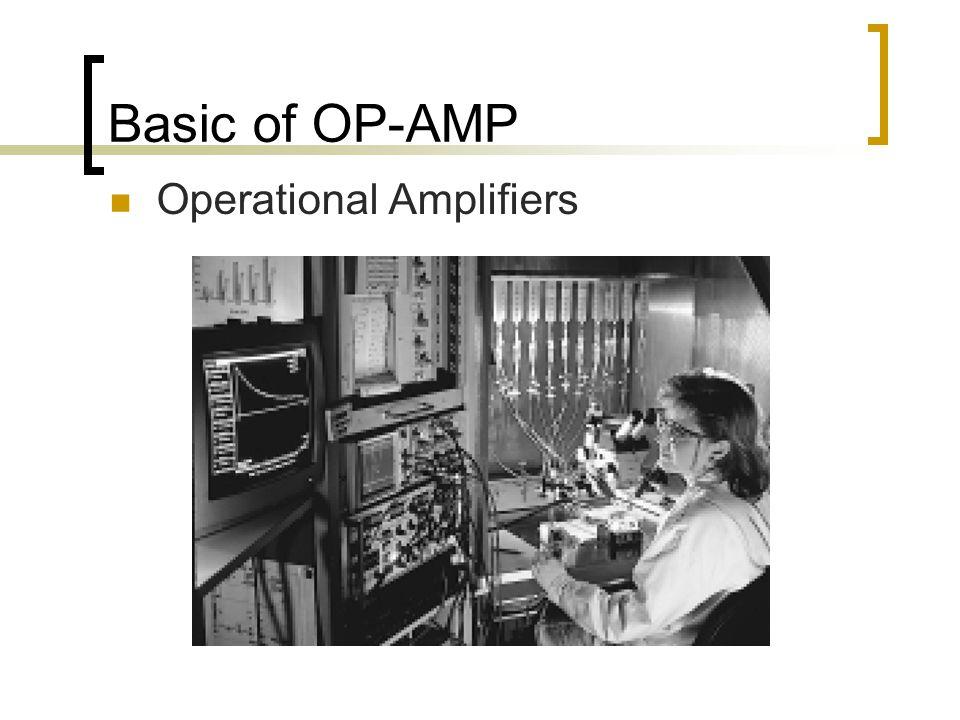 Basic of OP-AMP