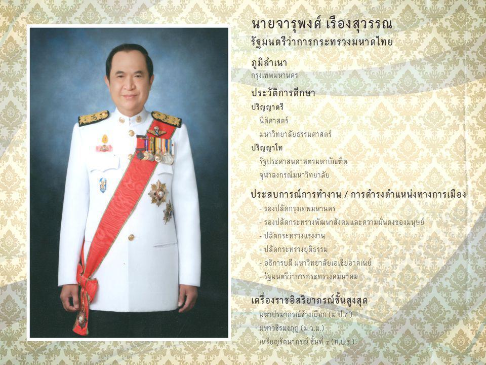 กระบวนทัศน์การบริหาร องค์กรปกครองท้องถิ่น นายจารุพงศ์ เรืองสุวรรณ รัฐมนตรีว่าการกระทรวงมหาดไทย