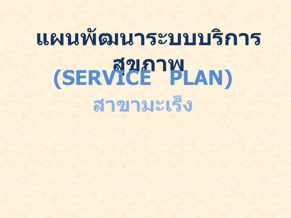 แผนพัฒนาระบบบริการ สุขภาพ (SERVICE PLAN) สาขามะเร็ง
