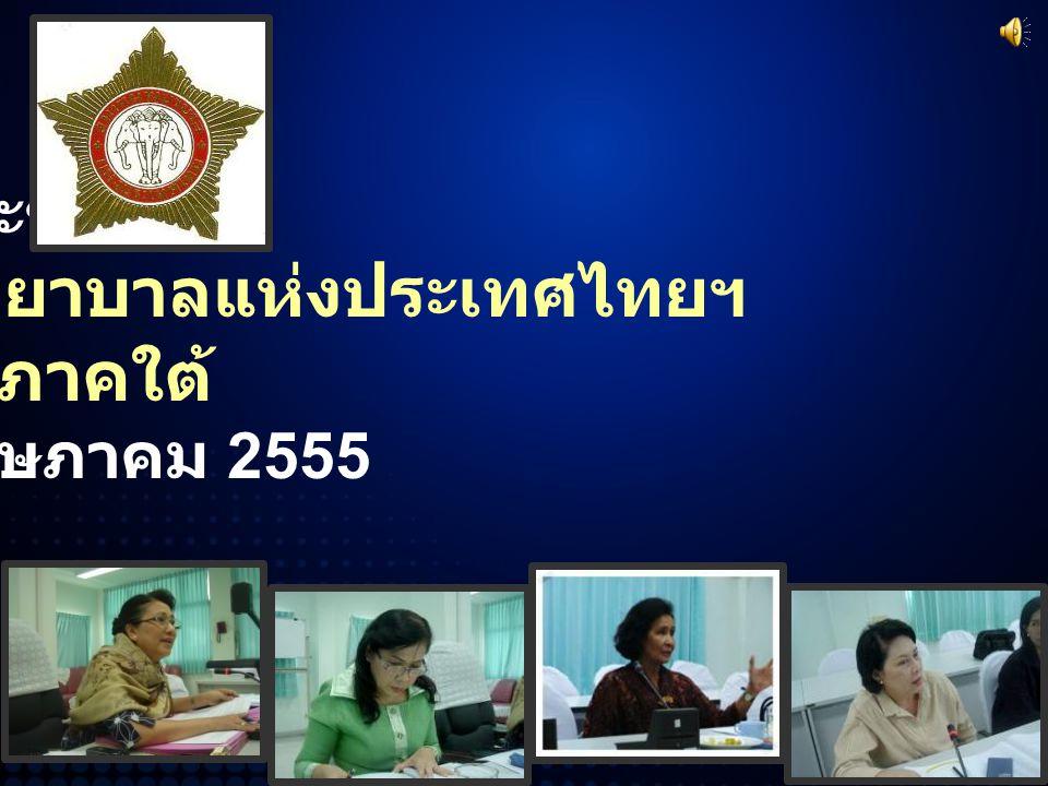 การประชุมของ คณะกรรมการสมาคมพยาบาลแห่งประเทศไทยฯ สาขาภาคใต้ วันที่ 19 พฤษภาคม 2555