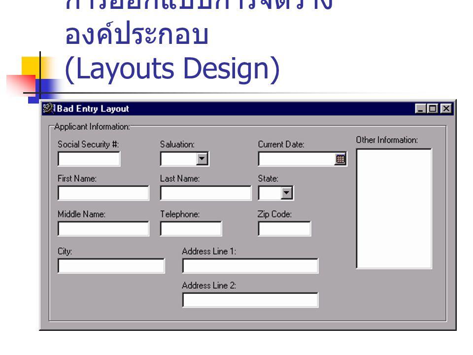 การออกแบบการจัดวาง องค์ประกอบ (Layouts Design)