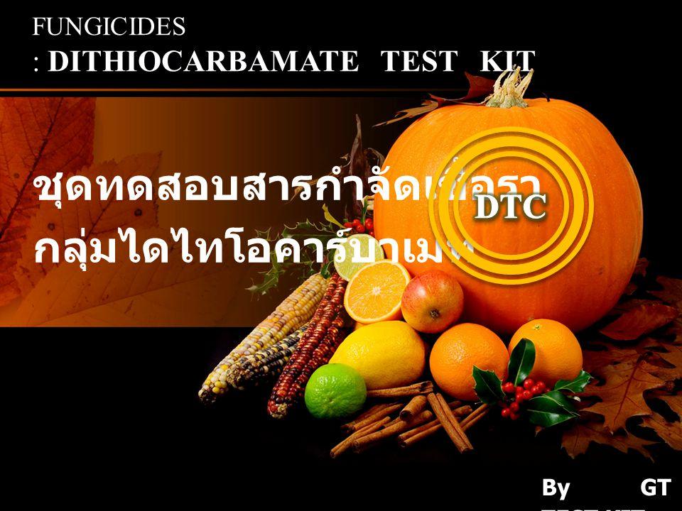 ชุดทดสอบสารกำจัดเชื้อรา กลุ่มไดไทโอคาร์บาเมท DITHIOCARBAMATE TEST KIT FUNGICIDES : DITHIOCARBAMATE TEST KIT By GT TEST KIT