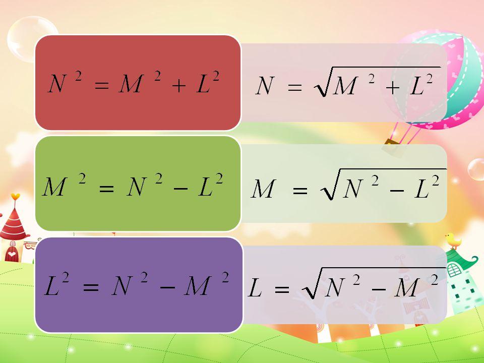 รูปสามเหลี่ยมมุมฉากมีด้านประกอบมุม ฉากยาว 6 หน่วย และ 8 หน่วย ความ ยาวด้านตรงข้ามมุมฉากเท่ากับกี่หน่วย C 2 = A 2 + B 2 C 2 = 6 2 + 8 2 C 2 = 36 + 64 C 2 = 100 C 2 = 10 2 C = 10 ดังนั้น ด้านตรงข้ามมุมฉาก ยาว 10 หน่วย