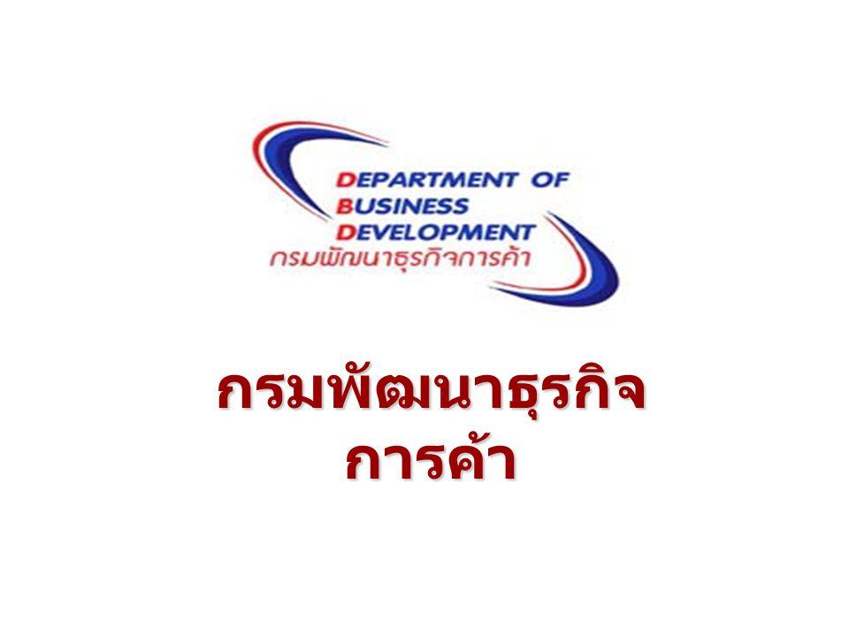 ด้านการ ส่งเสริมธุรกิจ และพัฒนา ธุรกิจ ภารกิจ กรมพัฒนาธุรกิจการค้า ด้านการจด ทะเบียนธุรกิจ / บริการข้อมูล ธุรกิจ ด้านการกำกับดูแล ธุรกิจ ด้านการ ส่งเสริมและ พัฒนาธุรกิจ