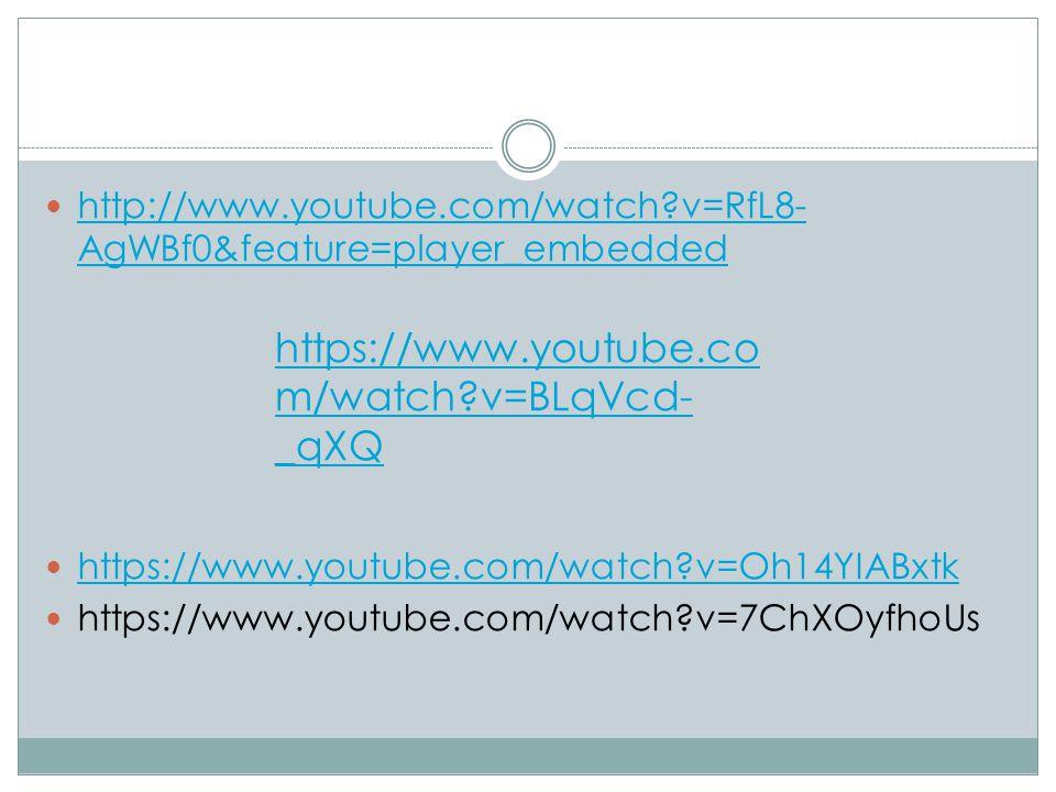 http://www.youtube.com/watch?v=RfL8- AgWBf0&feature=player_embedded http://www.youtube.com/watch?v=RfL8- AgWBf0&feature=player_embedded https://www.yo