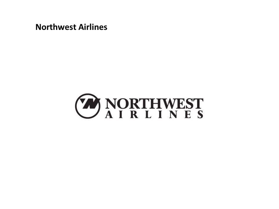 ในโลโก้สายการบินนอร์ธเวสแอร์ไลน์ ดูตรงหน้าสุด จะเห็นตัว N และ W และสามเหลี่ยมในวงกลมจะ เห็นเป็นเข็มทิศ