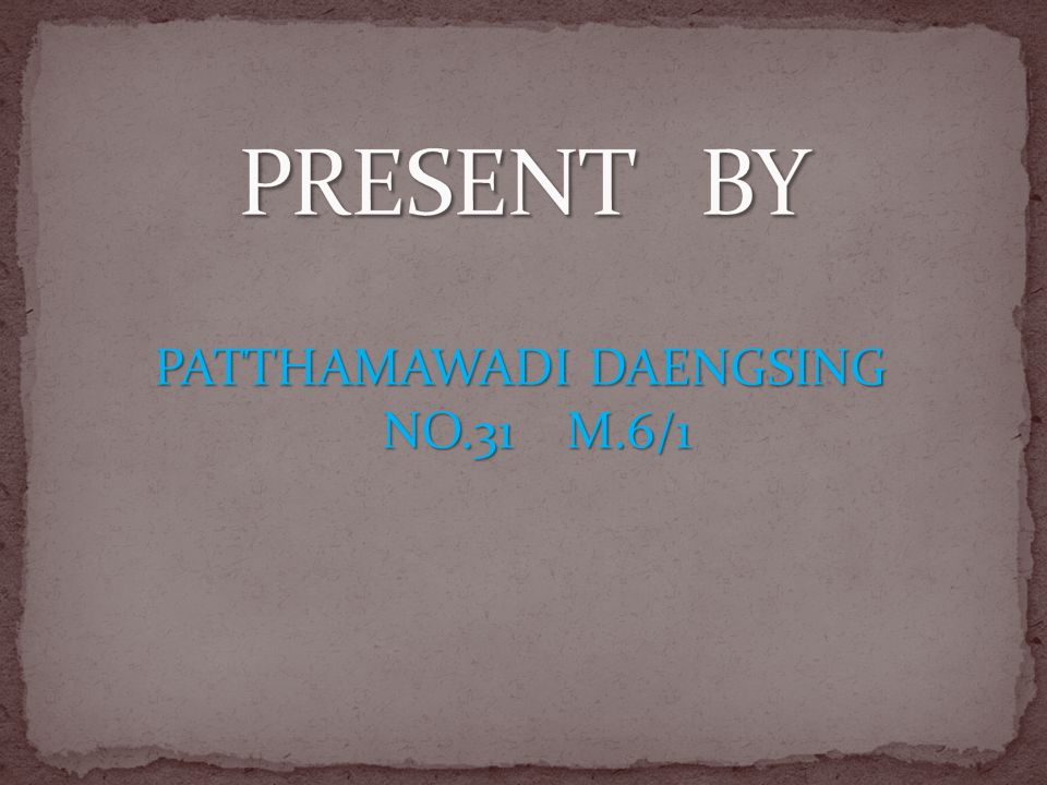 PATTHAMAWADI DAENGSING NO.31 M.6/1