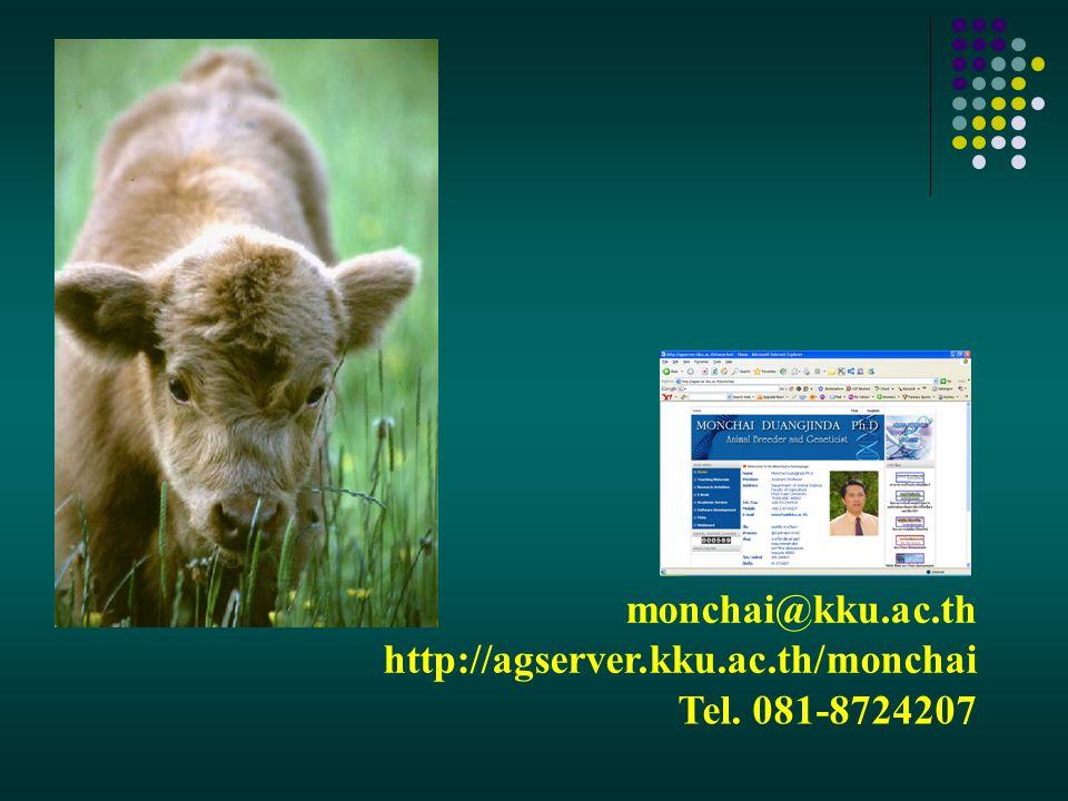 monchai@kku.ac.th http://agserver.kku.ac.th/monchai Tel. 081-8724207