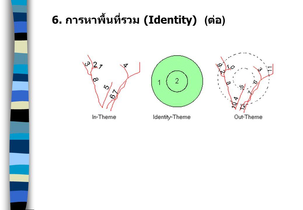 6. การหาพื้นที่รวม (Identity) ( ต่อ )