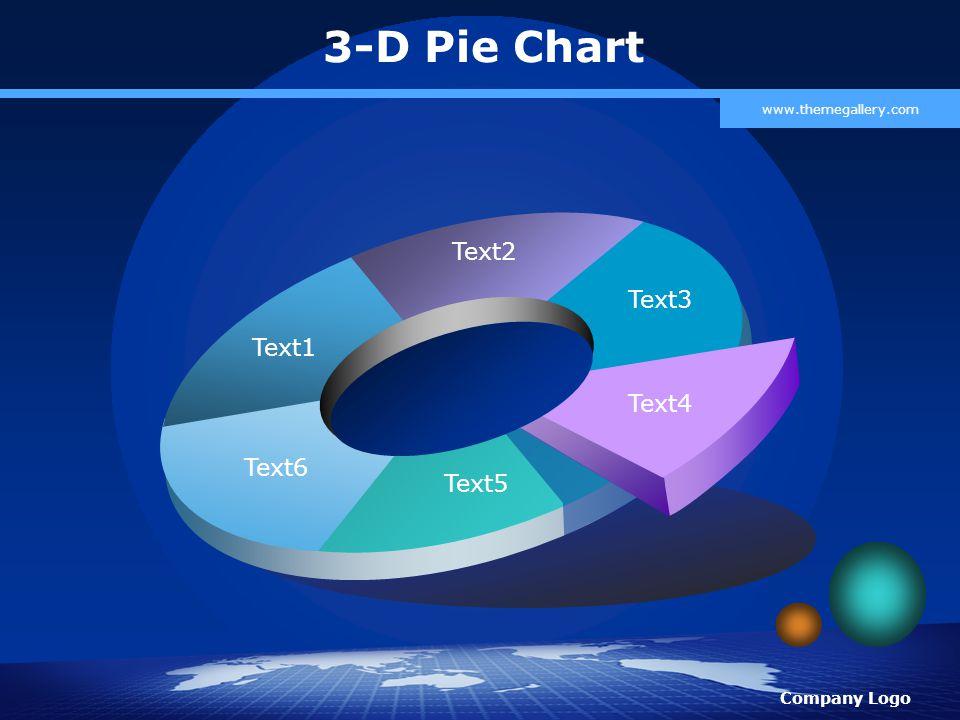 Company Logo www.themegallery.com 3-D Pie Chart Text1 Text2 Text3 Text4 Text5 Text6