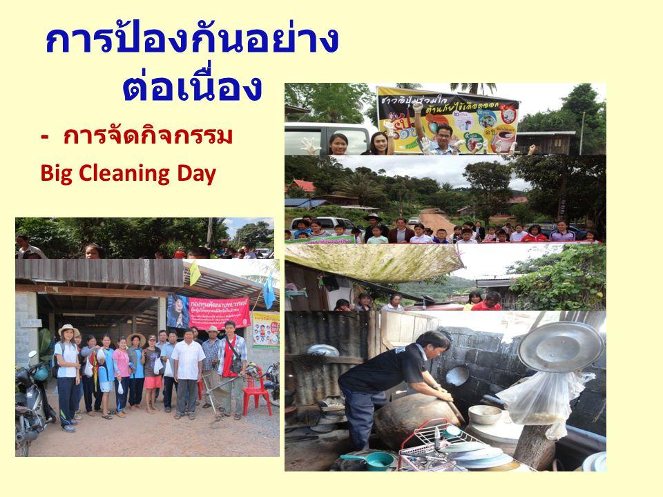 การป้องกันอย่าง ต่อเนื่อง - การจัดกิจกรรม Big Cleaning Day