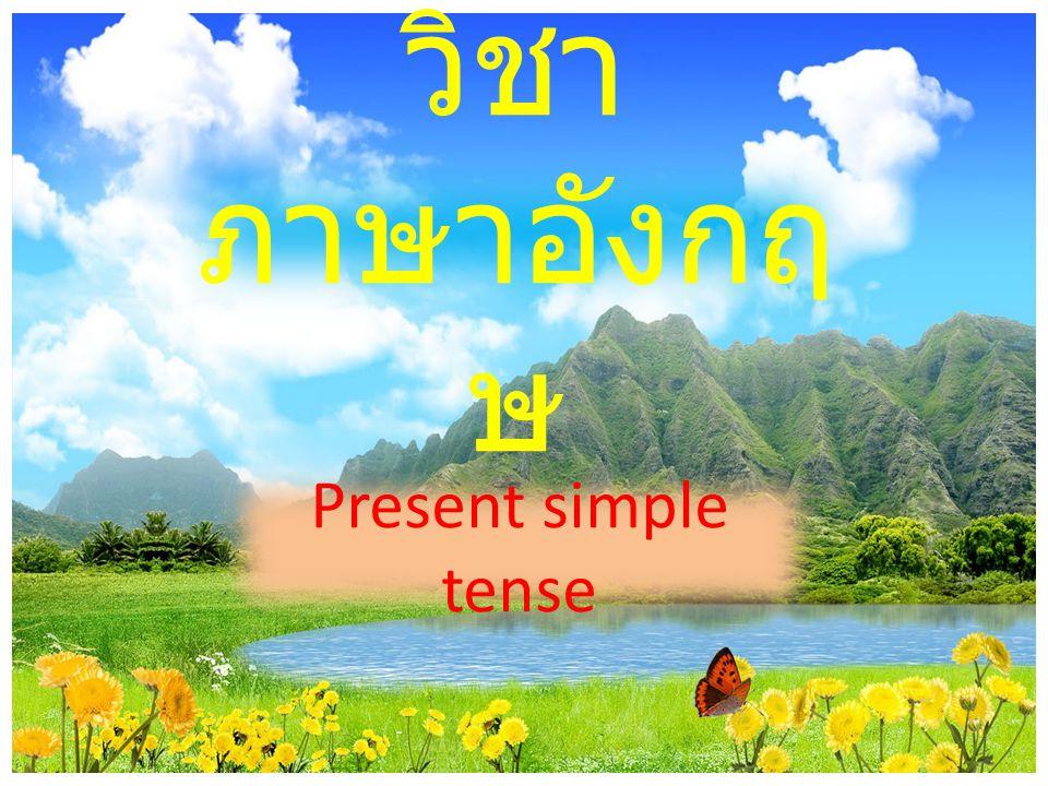 วิชา ภาษาอังกฤ ษ Present simple tense