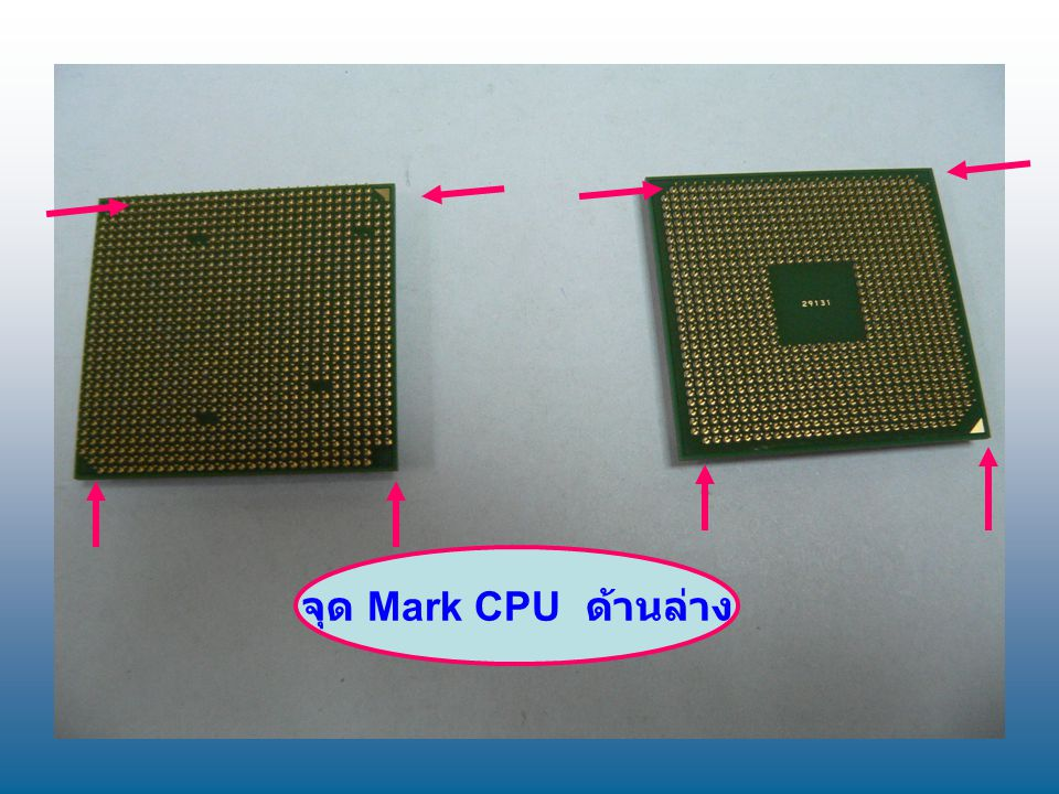 จุด Mark CPU ด้านล่าง