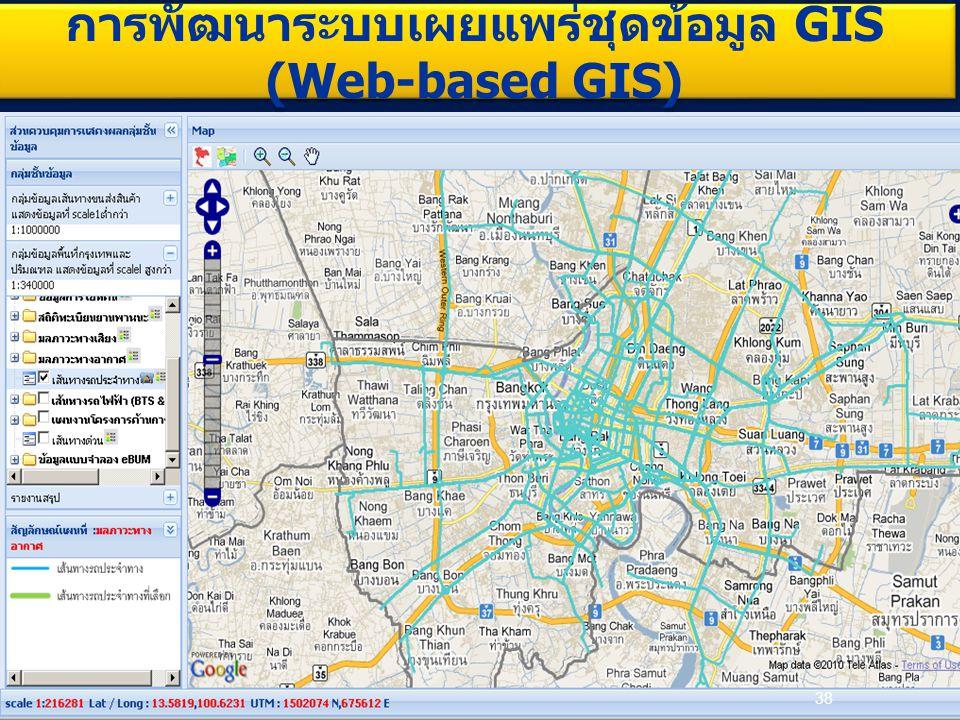 38 การพัฒนาระบบเผยแพร่ชุดข้อมูล GIS (Web-based GIS)
