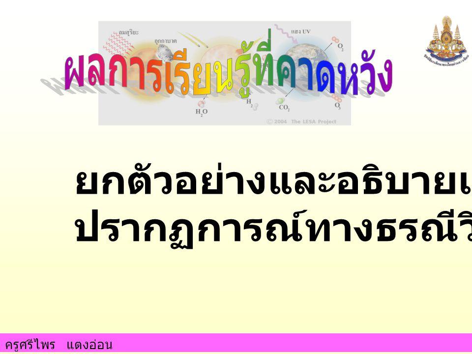 ครูศรีไพร แตงอ่อน ทั่วประเทศไทยมีรอยเลื่อน ที่มีพลัง 9 รอย 1.