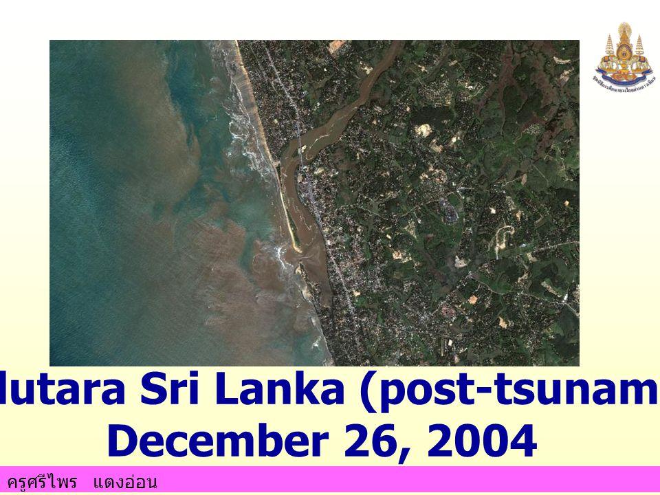 ครูศรีไพร แตงอ่อน Kalutara Sri Lanka (post-tsunami) December 26, 2004