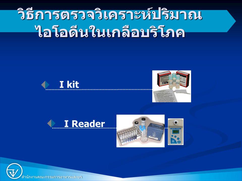 2 วิธีการตรวจวิเคราะห์ปริมาณ ไอโอดีนในเกลือบริโภค I Reader I kit