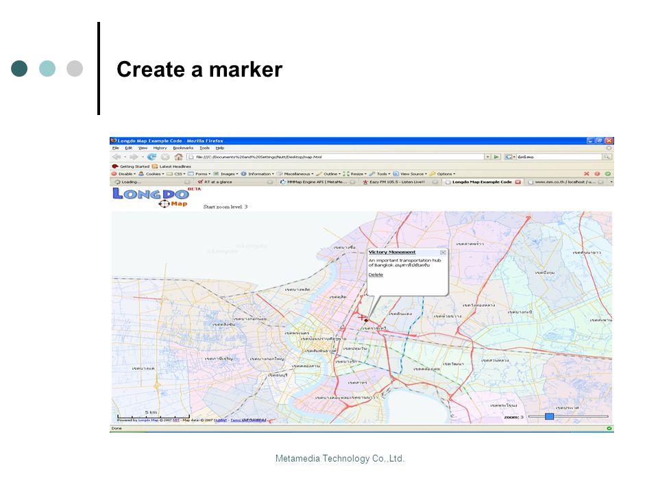 Metamedia Technology Co.,Ltd. Create a marker