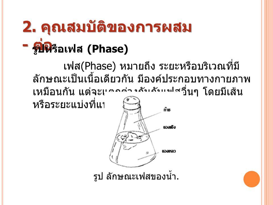 เฟส (Phase) หมายถึง ระยะหรือบริเวณที่มี ลักษณะเป็นเนื้อเดียวกัน มีองค์ประกอบทางกายภาพ เหมือนกัน แต่จะแตกต่างกันกับเฟสอื่นๆ โดยมีเส้น หรือระยะแบ่งที่แน
