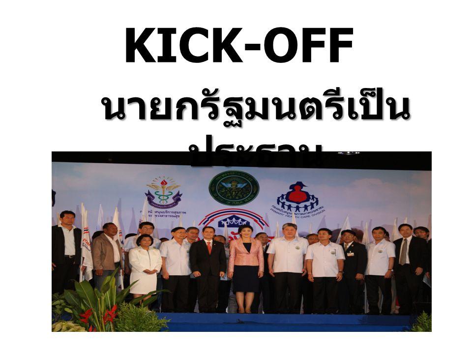 KICK-OFF นายกรัฐมนตรีเป็น ประธาน