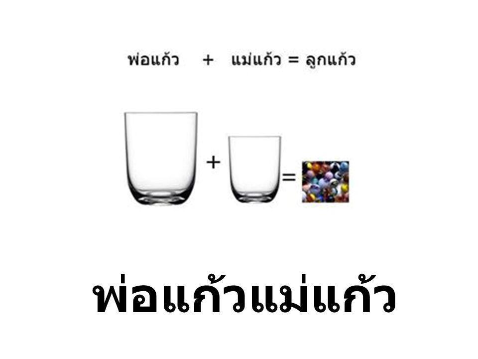คำว่า พ่อแก้วแม่แก้ว เป็นคำ ประสมประกอบด้วยคำว่า พ่อ แม่ และ แก้ว.