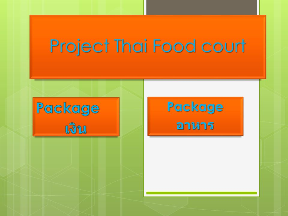 Project Thai Food court Packageอาหาร