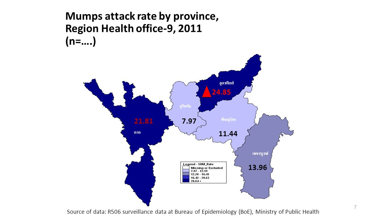 8 Source: DLD Introduction (4) Goat population in Thailand by province, 2008 and 2012,