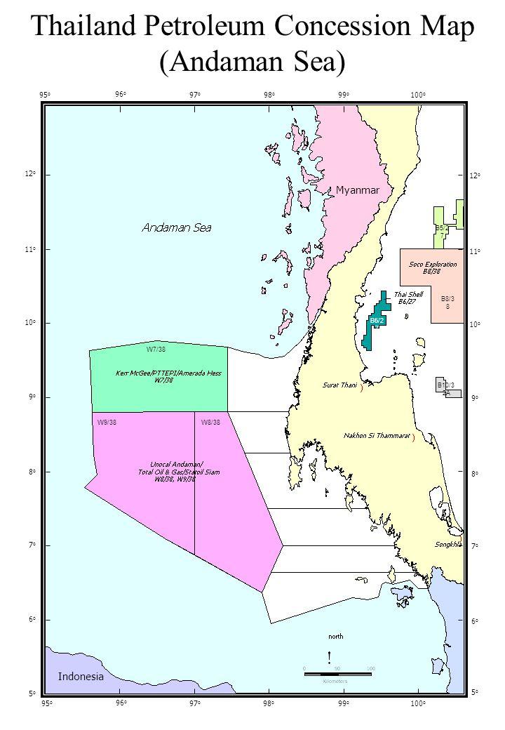 Areas Open for Bidding (1998) 96 O 98 O 100 O 102 O 104 O 20 O 18 O 16 O 14 O 12 O 10 O 8O8O 6O6O CAMBODIA VIETNAM Andaman Sea MYANMAR LAOS VIETNAM