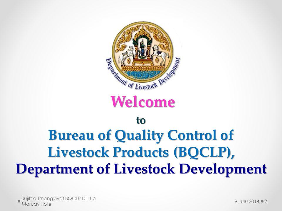 3  สำนักตรวจสอบคุณภาพสินค้าปศุ สัตว์ กรมปศุสัตว์ ในการสนับสนุนด้านความ ปลอดภัยอาหาร  บทบาท หน้าที่  ห้องปฏิบัติการอ้างอิงตรวจสอบ อาหารของอาเซียนด้านสารตกค้างยา สัตว์ ASEAN Food Reference Laboratory for Veterinary Drug Residue (AFRL for VDR)  บทบาทหน้าที่ สำนักตรวจสอบคุณภาพสินค้าปศุสัตว์ Sujittra Phongvivat BQCLP DLD @ Maruay Hotel 9 Julu 2014