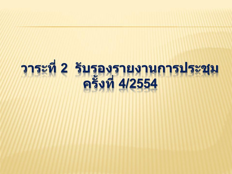 3.1 ความคืบหน้าการจัดประชุม Asian Congress of Urology 2012 Urology 2012 ( นำเสนอโดย นพ.