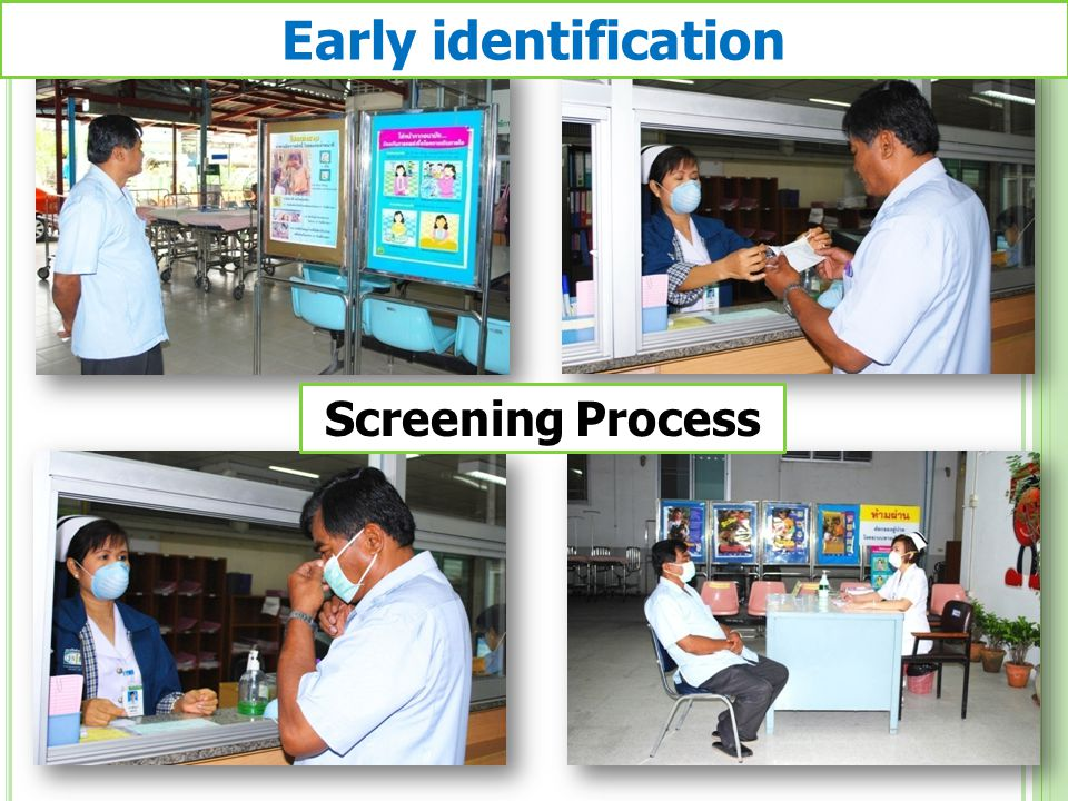 Screening Process Early identification