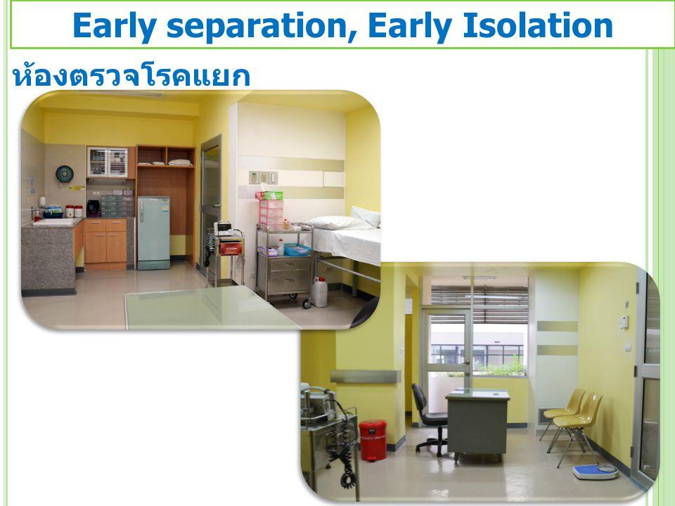 ห้องตรวจโรคแยก Early separation, Early Isolation