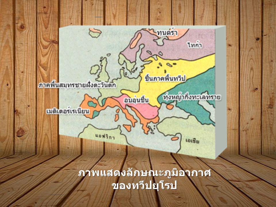 ภาพแสดงลักษณะภูมิอากาศ ของทวีปยุโรป