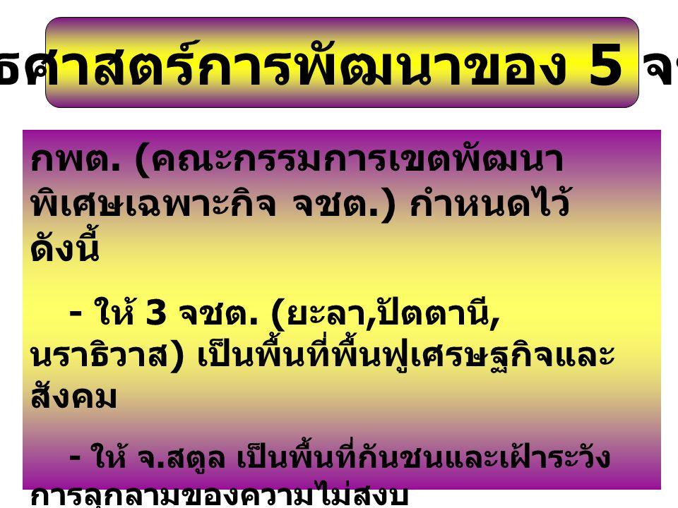 ยุทธศาสตร์การพัฒนา 5 จชต.ของคณะกรรมการรัฐมนตรี 5 จชต.
