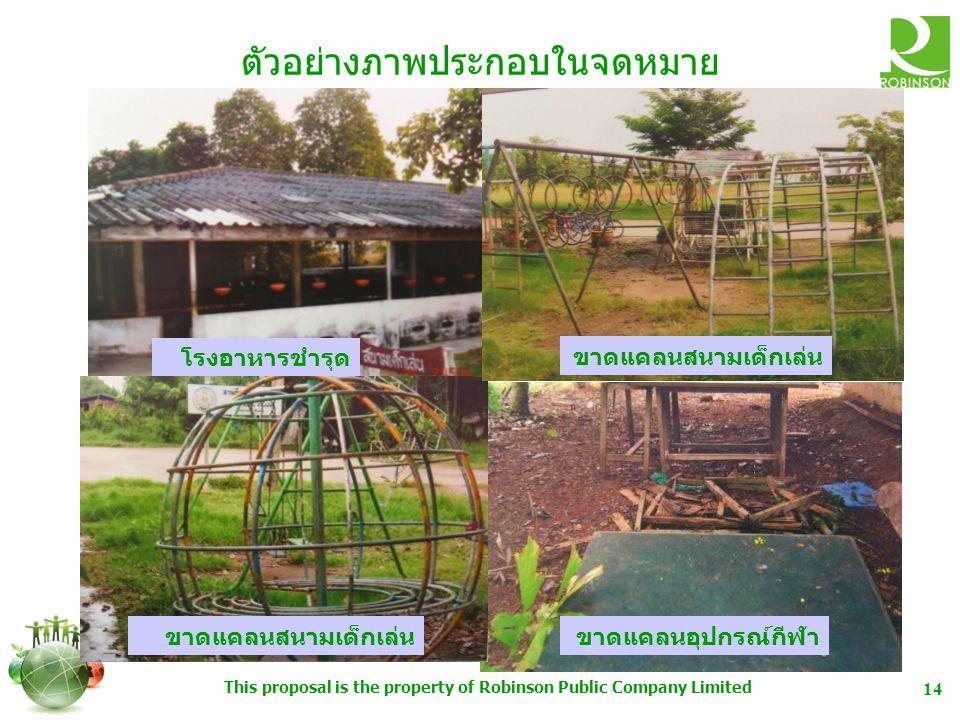 This proposal is the property of Robinson Public Company Limited 15 ตัวอย่างโครงการฯ