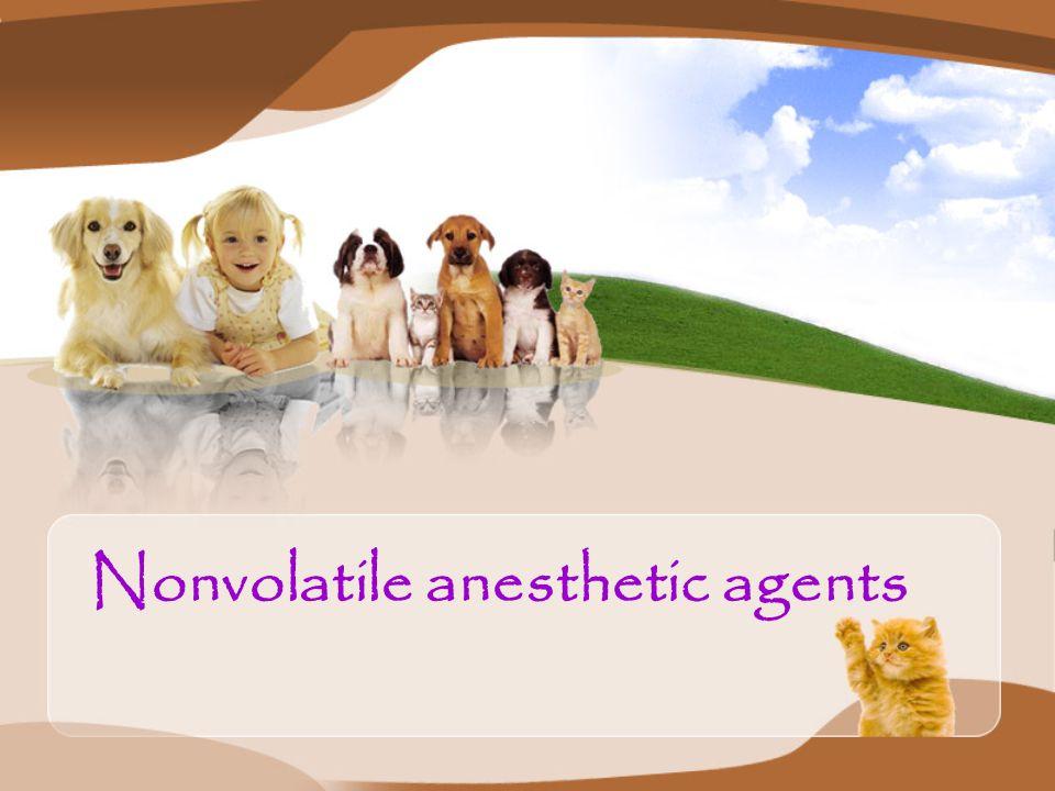 Nonvolatile anesthetic agents