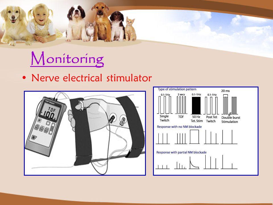 Monitoring Nerve electrical stimulator