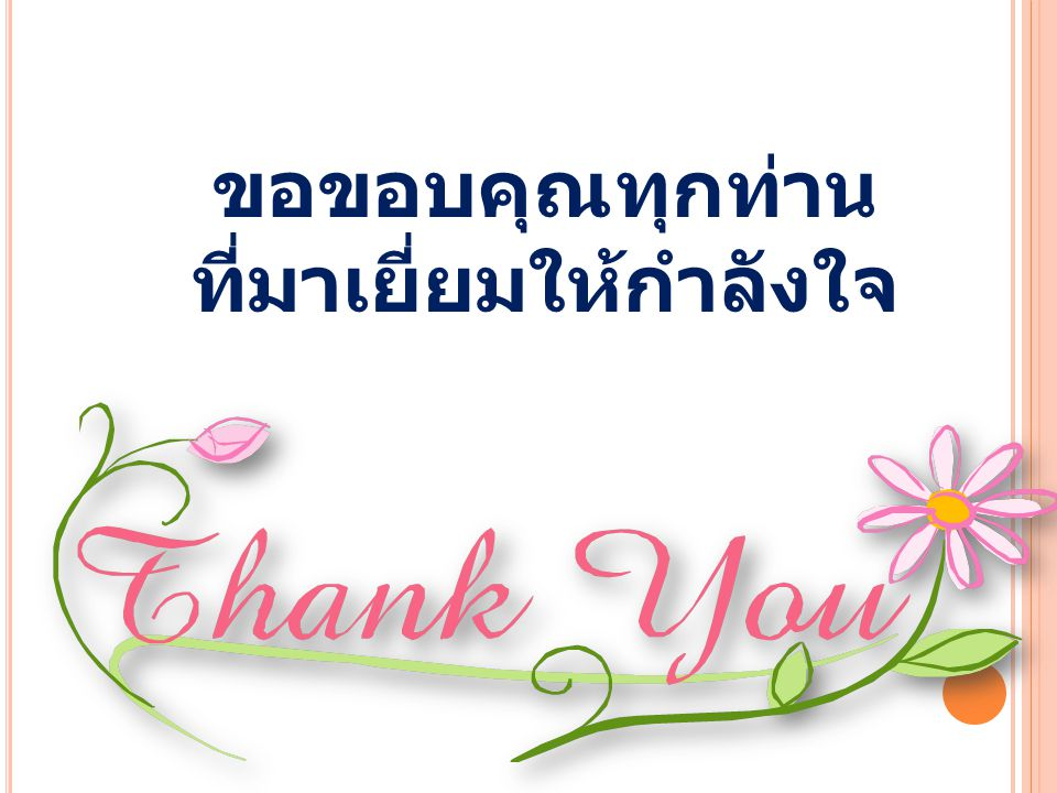 ขอขอบคุณทุกท่าน ที่มาเยี่ยมให้กำลังใจ