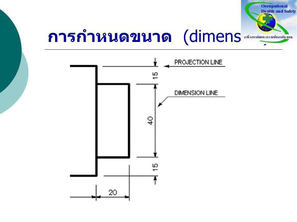การกำหนดขนาด (dimension)