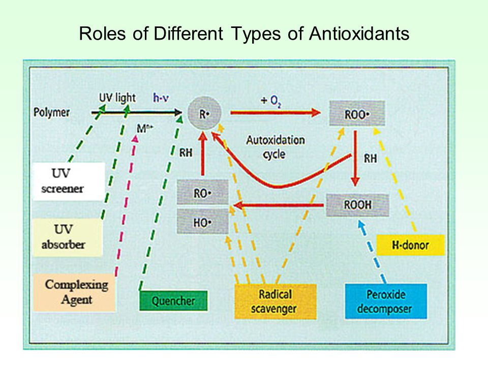 Roles of Different Types of Antioxidants