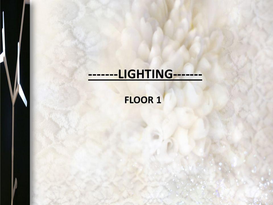 FLOOR 1 -------LIGHTING-------