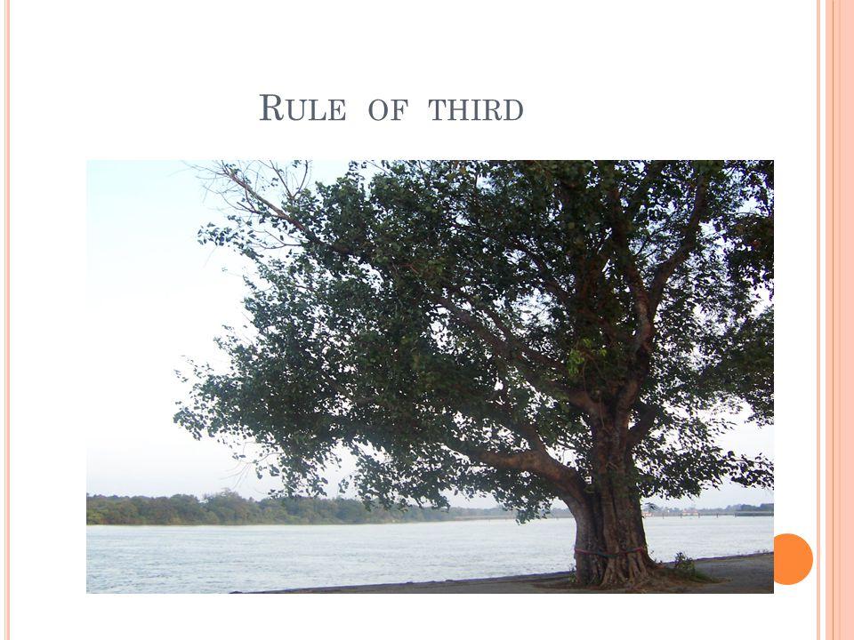 R ULE OF THIRD