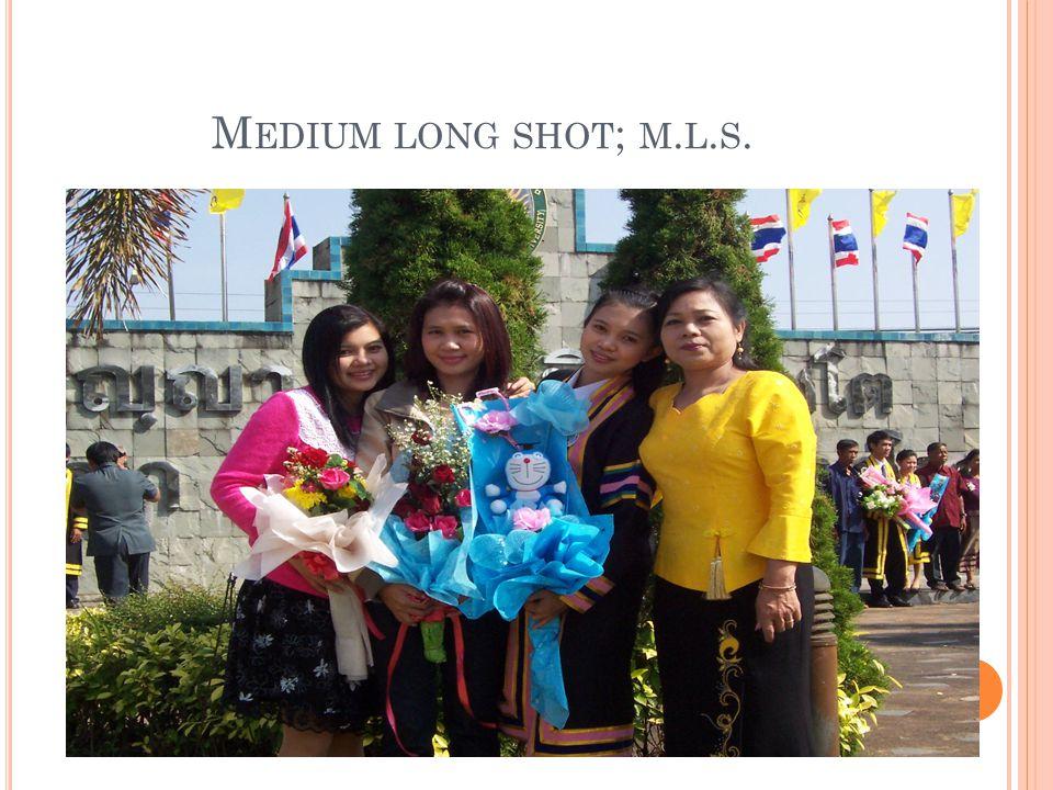 M EDIUM LONG SHOT ; M. L. S.