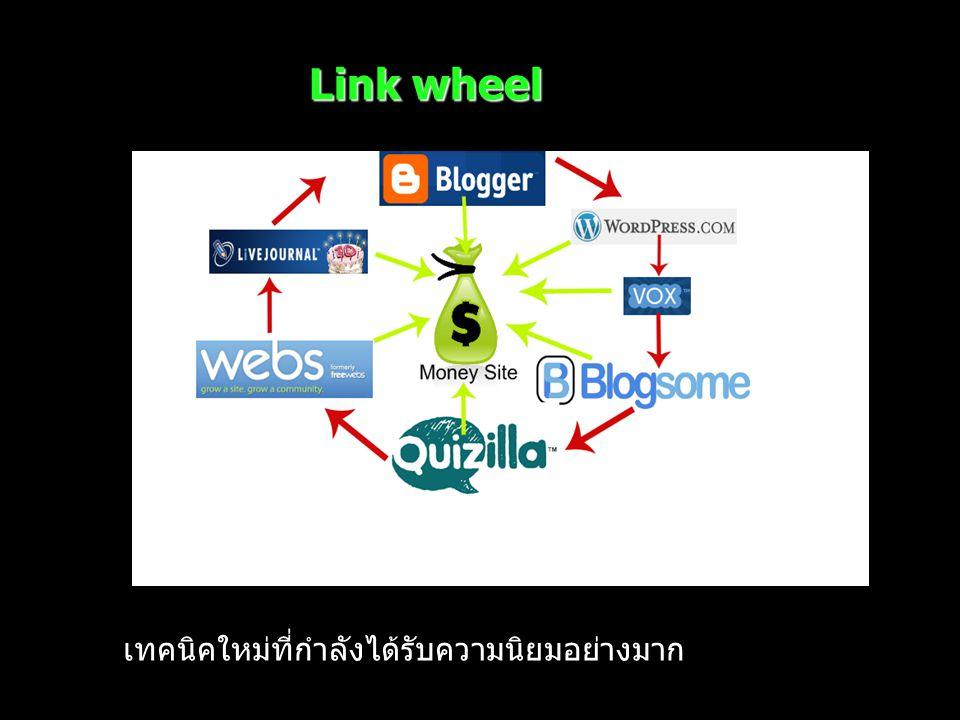 Link wheel เทคนิคใหม่ที่กำลังได้รับความนิยมอย่างมาก