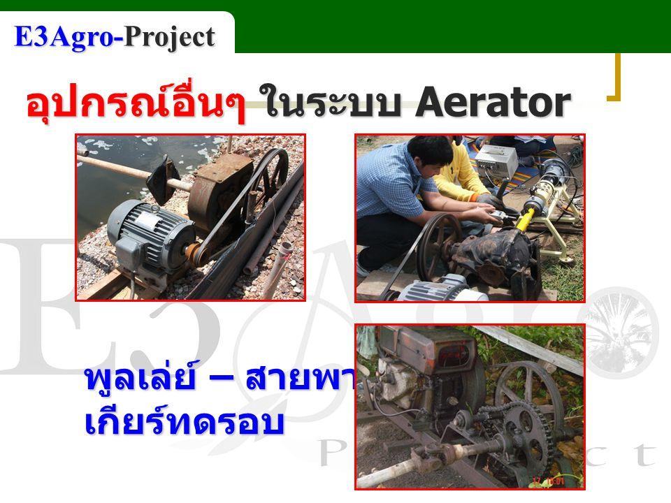 ชุดเกียร์เปลี่ยนทิศทาง อุปกรณ์อื่นๆ ในระบบ Aerator E3Agro-Project
