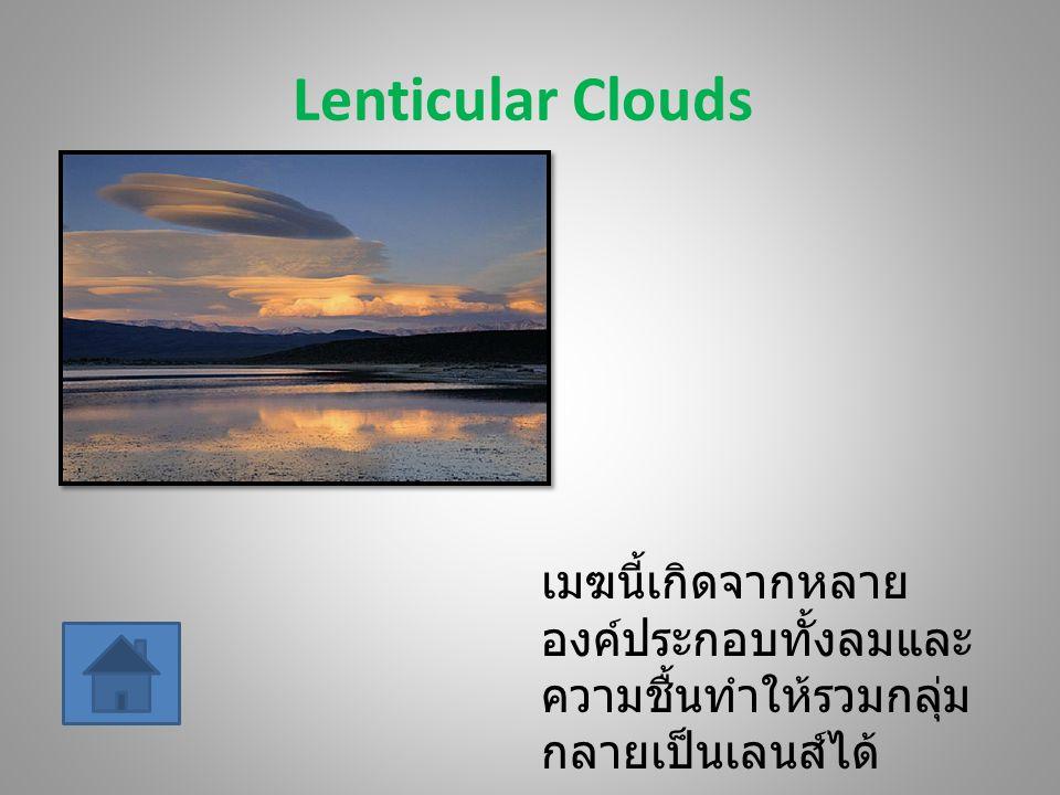 Roll Clouds เมฆนี้เป็นเมฆฝนถึงขั้นที่จะเกิดพายุ แต่เป็น เมฆก้อนใหญ่บวกกับความดันอากาศความ ร้อนและเย็นทำให้เกิดการเคลื่อนที่ของเมฆ เป็นม้วน เลยดูเหมือนคลื่นขนาดใหญ่